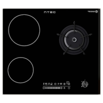 ÖVERRASKAD IKGH-M300B LNG gas/glass ceramic hob, black, 59 cm