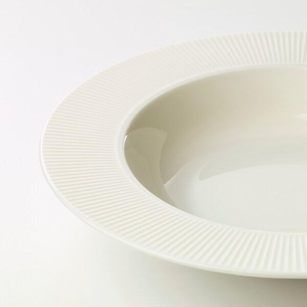 OFANTLIGT Deep plate, white, 24 cm