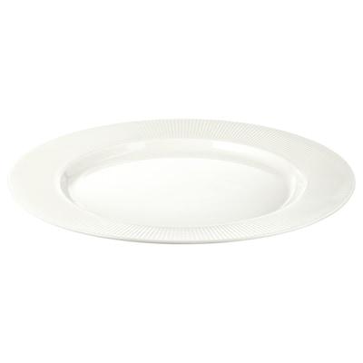 OFANTLIGT Plate, white, 28 cm