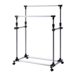 OLEBY clothes rack, silver-colour