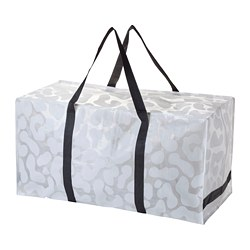 OMBYTE bag, white/black, transparent