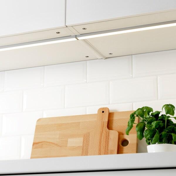 OMLOPP LED worktop lighting, aluminium-colour, 40 cm
