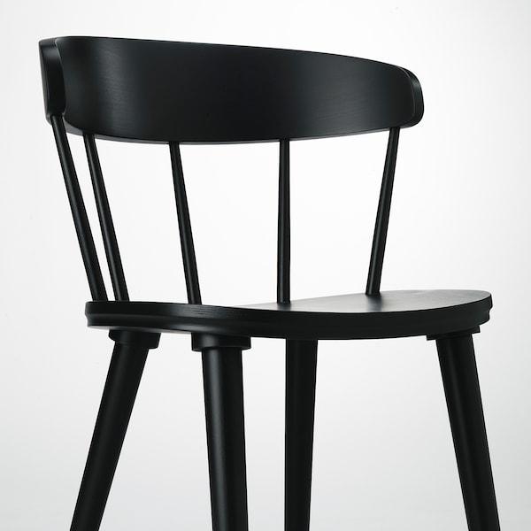 OMTÄNKSAM chair anthracite 53 cm 50 cm 79 cm 45 cm 43 cm 47 cm