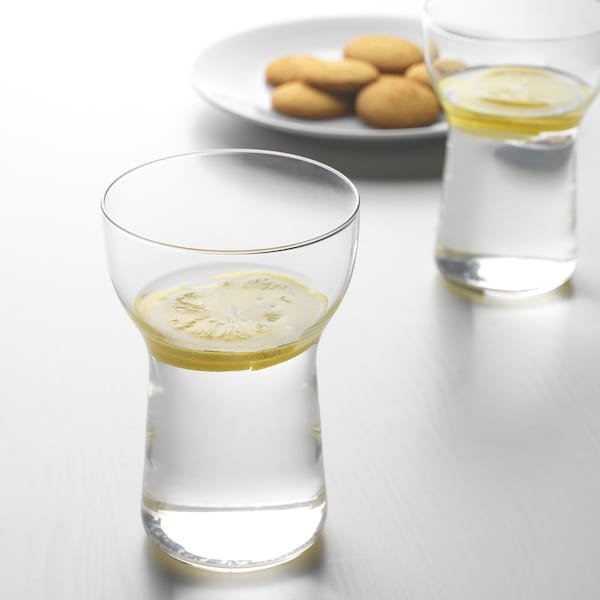 OMTÄNKSAM Glass, clear glass, 35 cl