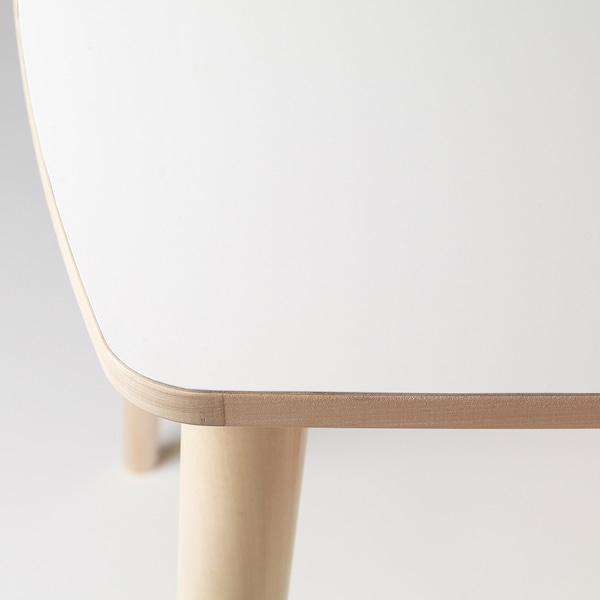 OMTÄNKSAM table white/birch 95 cm 95 cm 74 cm