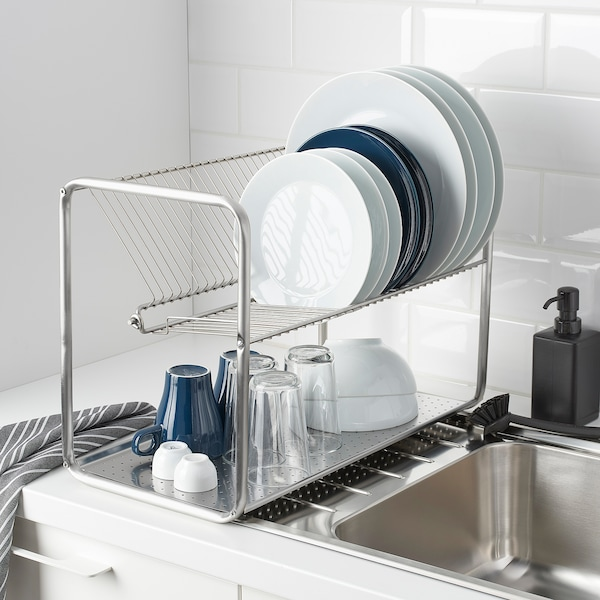 ORDNING Dish drainer, stainless steel, 50x27x36 cm