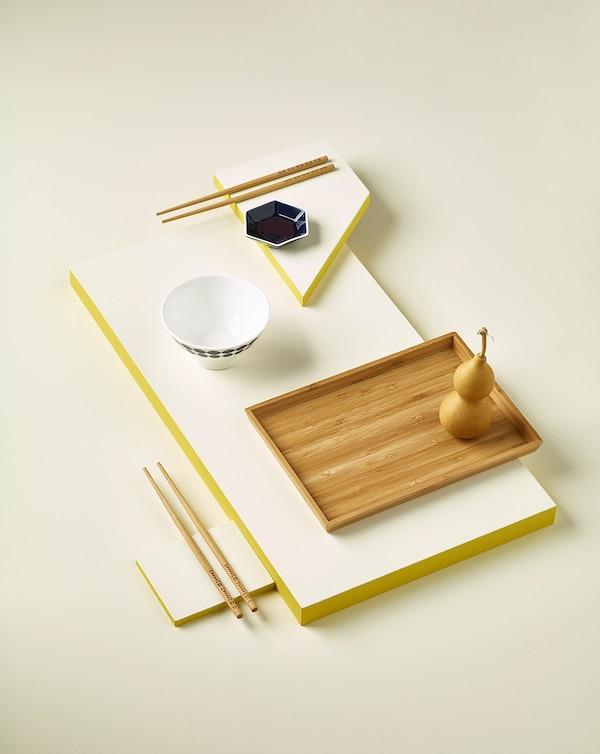 OSTBIT Tray, bamboo, 25x33 cm