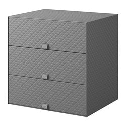 PALLRA mini chest with 3 drawers, dark grey