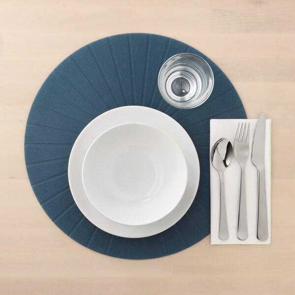 PANNÅ Place mat, dark blue, 37 cm