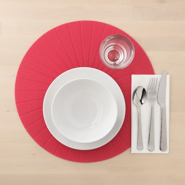 PANNÅ place mat red 37 cm