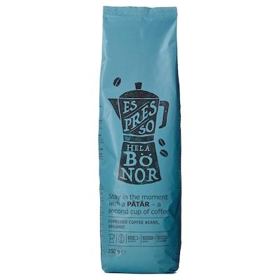 PÅTÅR espresso coffee, beans organic/UTZ certified/100 % Arabica beans 250 g