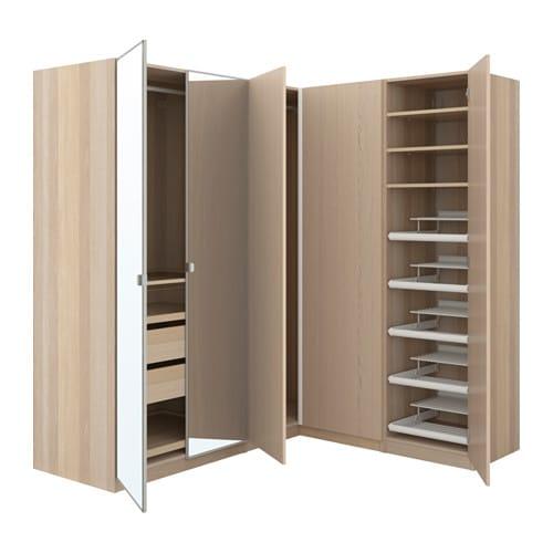 Pax corner wardrobe ikea for Configuration dressing ikea