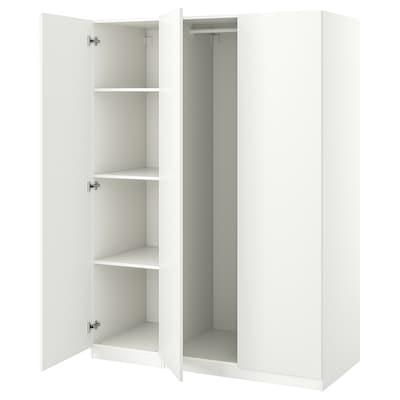 PAX / FORSAND Wardrobe combination, white, 150x60x201 cm