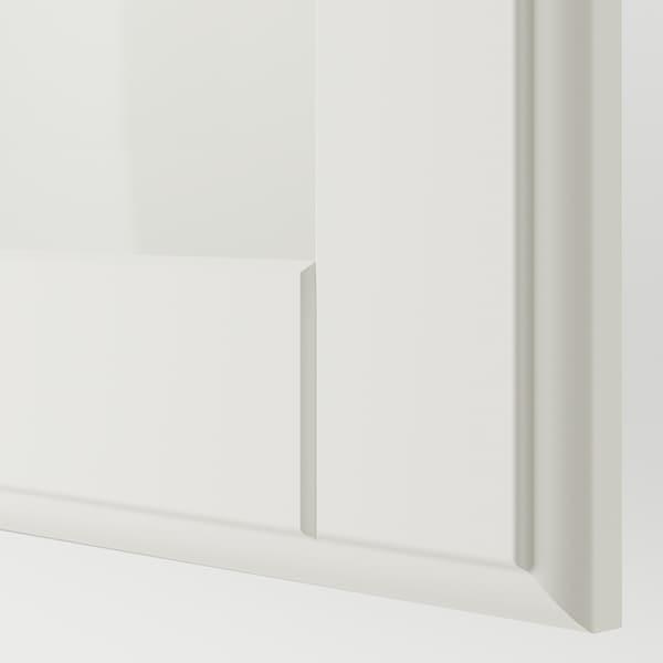 PAX / TYSSEDAL Wardrobe combination, white/white glass, 250x60x201 cm