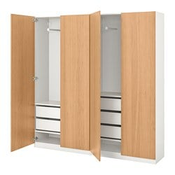 PAX wardrobe, oak effect, Forsand