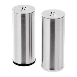 PLATS salt/pepper shaker, set of 2, stainless steel