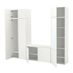 PLATSA wardrobe with 9 doors, white, Fonnes Ridabu