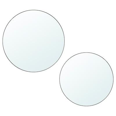 PLOMBO Mirror, set of 2, dark grey