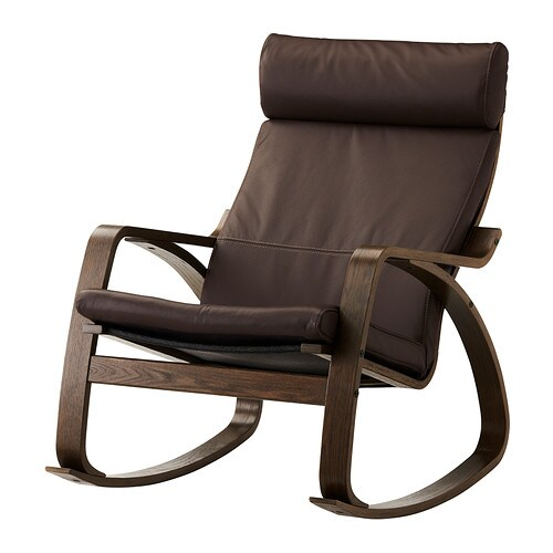 Po ng rocking chair glose dark brown ikea for Chaise rocking chair ikea