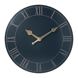 POLLETT wall clock, dark blue