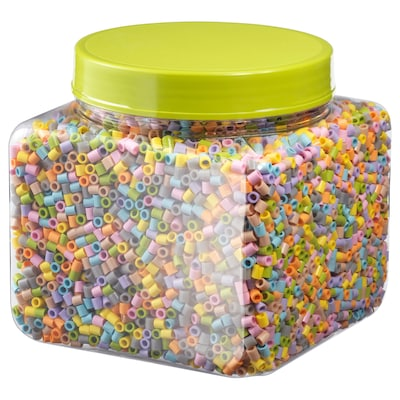 PYSSLA Beads, assorted pastel colours, 600 g