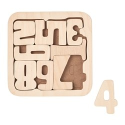 PYSSLA puzzle, numbers, plywood