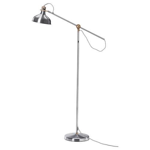 RANARP floor/reading lamp nickel-plated 11 W 153 cm 185 cm