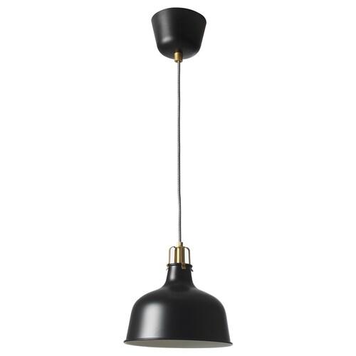 RANARP pendant lamp black 22 W 23 cm 1.5 m