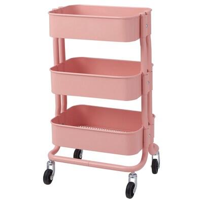 RÅSHULT Trolley, pink-red, 38x28 cm