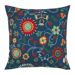 ROSENRIPS cushion cover, blue patterned