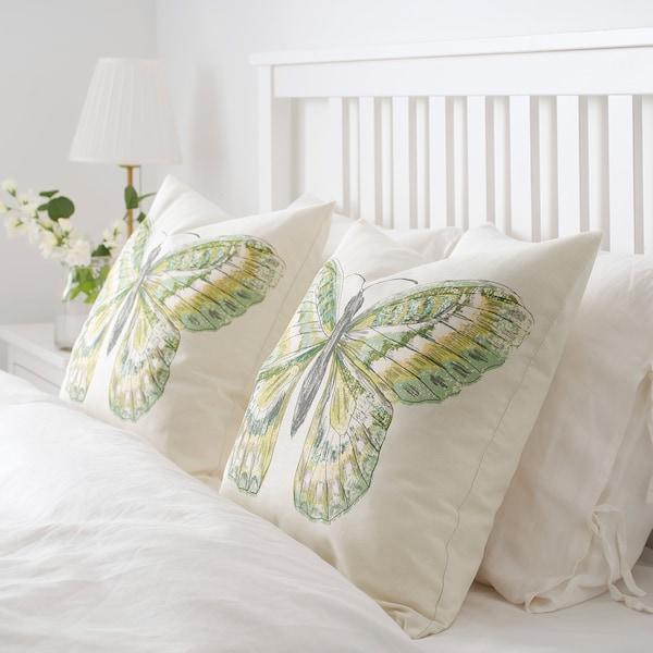ROTFJÄRIL cushion cover natural/multicolour 50 cm 50 cm