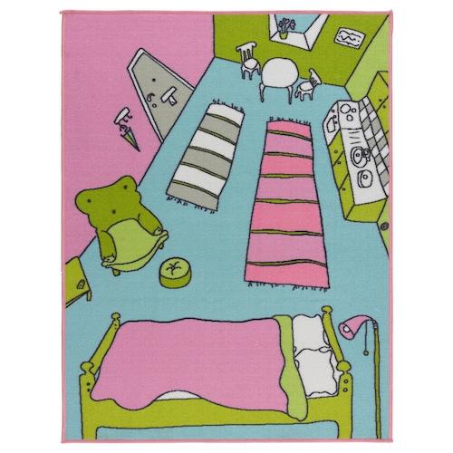 RUMMET rug, low pile multicolour 133 cm 100 cm 1.33 m² 945 g/m² 250 g/m² 3 mm