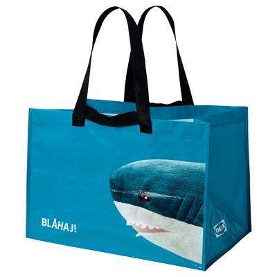 RUMPLING Carrier bag, large, blue/shark, 71 l