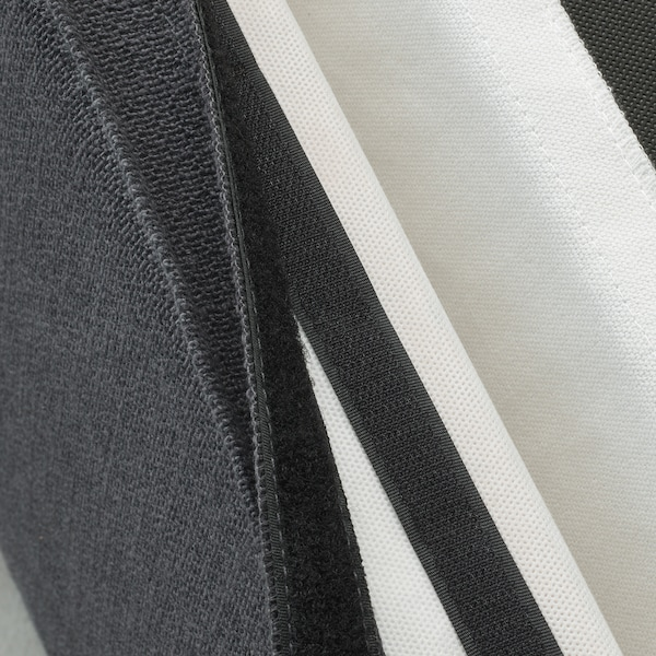SAKARIAS Stool cover, Sporda dark grey