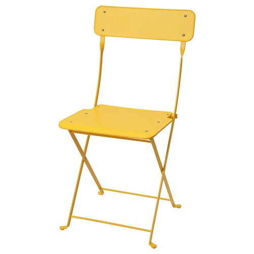 SALTHOLMEN chair, outdoor foldable/yellow 110 kg 42 cm 46 cm 83 cm 38 cm 35 cm 46 cm