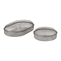 SAMMANHANG box with lid, set of 2, grey
