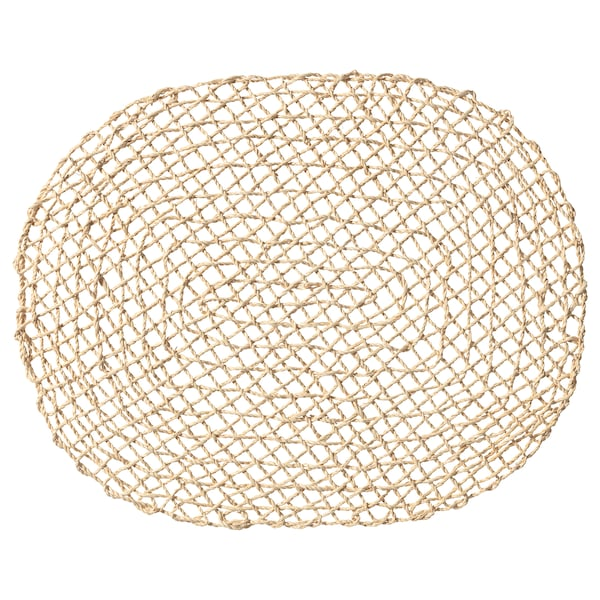 SAMTLIGA place mat natural/palm leaf 35 cm 45 cm