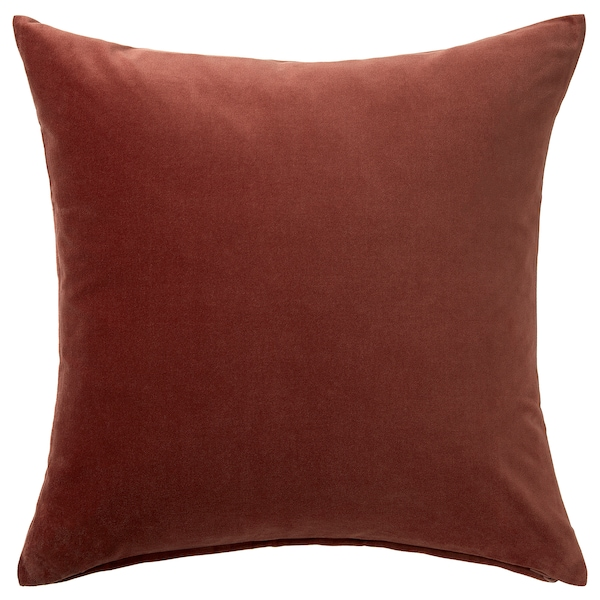 SANELA Cushion cover, red/brown, 50x50 cm