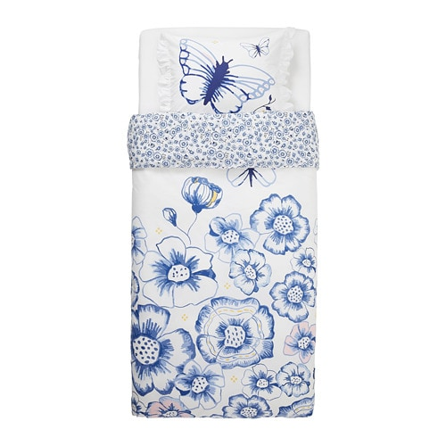 SÅNGLÄRKA Quilt cover and pillowcase IKEA Made from 100% sustainably grown cotton, a natural and durable material that gets softer with every wash.
