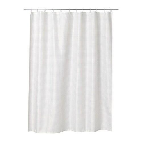 SAXLVEN Shower Curtain White