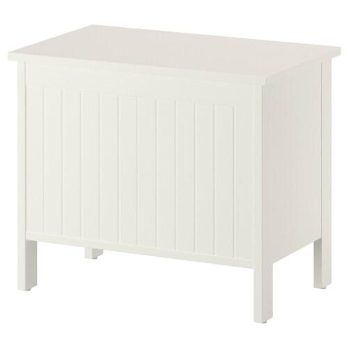SILVERÅN storage bench white 54.4 cm 35 cm 46.6 cm 54.4 cm 35 cm 46.6 cm 100 kg