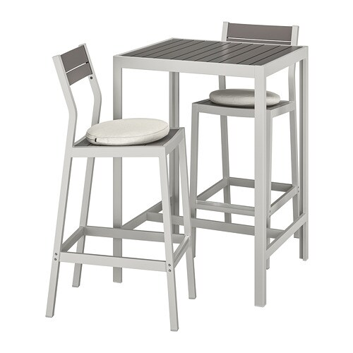 Amazing Sjalland Bar Table And 2 Bar Stools Outdoor Dark Grey Froson Duvholmen Beige Squirreltailoven Fun Painted Chair Ideas Images Squirreltailovenorg