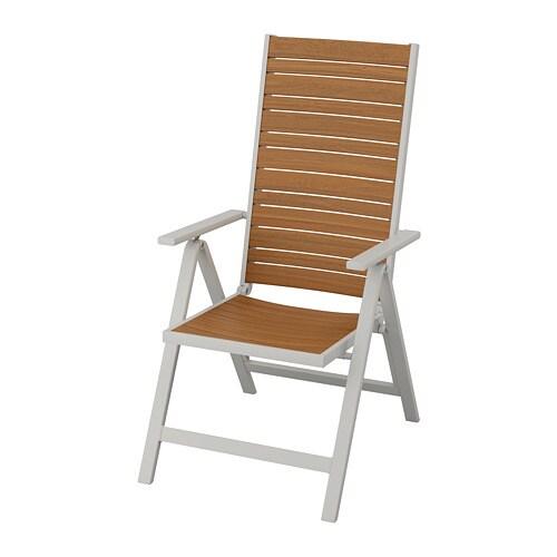 Wondrous Sjalland Reclining Chair Outdoor Light Grey Foldable Light Brown Machost Co Dining Chair Design Ideas Machostcouk