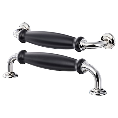 SKÄRHAMN handle black/chrome-plated 148 mm 20 mm 38 mm 5 mm 128 mm 2 pieces