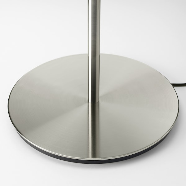 SKAFTET Table lamp base, nickel-plated, 38 cm