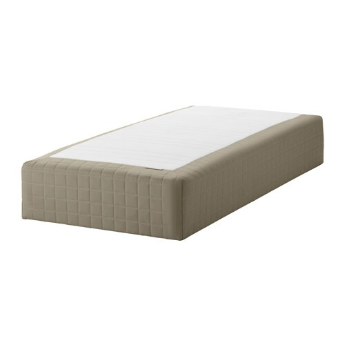 SKÅRER Wooden base sprung mattress