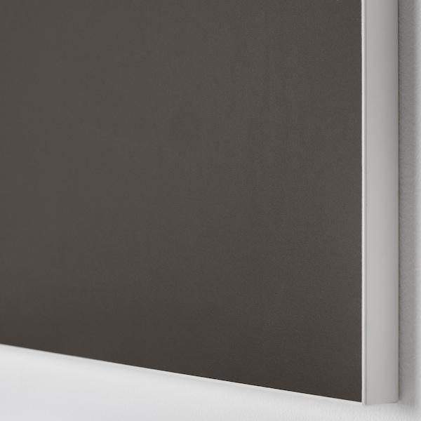 SKATVAL Door with hinges, dark grey, 60x60 cm