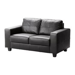 SKOGABY two-seat sofa, Glose Robust, Bomstad black
