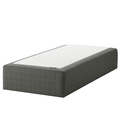 SKOTTERUD Wooden base sprung mattress, firm/dark grey, 120x200 cm