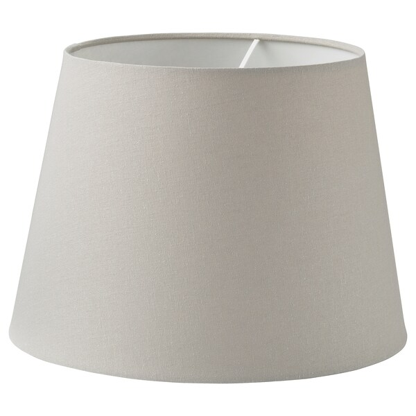 SKOTTORP Lamp shade, light grey, 33 cm